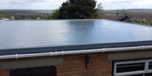 Garage roof installed in Huddersfield