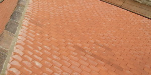 Tiled roof uisng Rosemary clay tiles